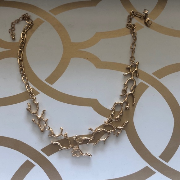Gold coral style necklace